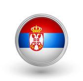 Serbia flag — Stock Vector
