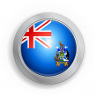 British overseas territory of south Flag Button — Stock Vector