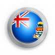 British Overseas Territory of the Cayman Islands Flag Button — Stock Vector