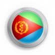State of Eritrea Flag Button — Stock Vector