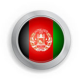 Afghanistan Flag Button — Stock Vector