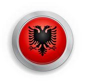 Albania Flag Button — Stock Vector