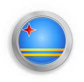 Aruba Flag Button — Stockvektor