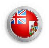 Bermuda British overseas territory Flag Button — Stock Vector