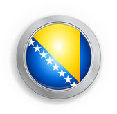 Bosnia & Herzegovina Flag Button — Stock Vector