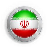 Islamic Republic of Iran Flag Button — Stock Vector