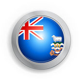 Falkland Islands Flag Button — Stock Vector