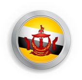 Brunei Darussalam Flag Button — Stock Vector