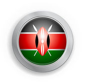 Botón de bandera de kenia — Vector de stock