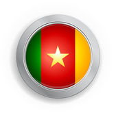 Cameroon Flag Button — Stockvektor