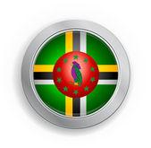 Botón de bandera de dominica commonwealth — Stok Vektör