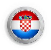 Botón de bandera de croacia — Vector de stock