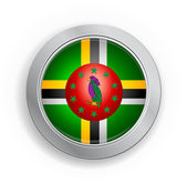 Dominicas flagga knappen — Stockvektor
