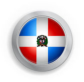 Dominican Republic Flag Button — Stock Vector