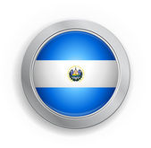 El Salvador Flag Button — Stockvektor