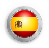 Spain Flag Button — Stock Vector