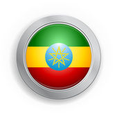 Ethiopia Flag Button — Stock Vector
