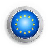 Eu - European Union Flag Button — Stockvektor