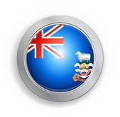 Tlačítko příznak Falklandské ostrovy — Stock vektor