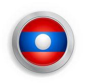 Laos demokratische republik flagge button — Stockvektor
