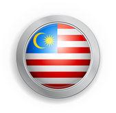Botón de bandera de malasia — Vector de stock