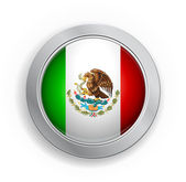 Mexico Flag Button — Stock Vector