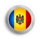 Moldova Flag Button — Stock Vector