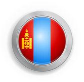Mongolia Flag Button — Stock Vector