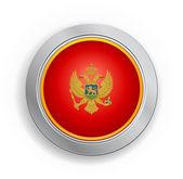 Montenegrin Flag Button — Stock Vector