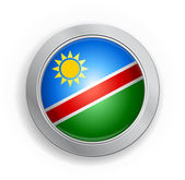 Namibia Flag Button — Stockvektor
