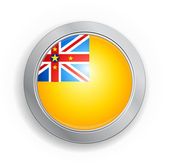 Niue Flag Button — Stock Vector