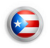 Puerto Rico Flag Button — Stock Vector