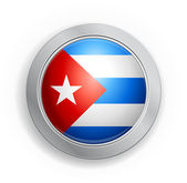 Cuba Flag Button — Stock Vector