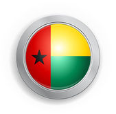 Guinea-Bissau Flag Button — Stockvektor