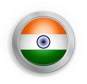 Hindistan bayrağı düğmesi — Stok Vektör