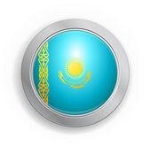 Kazakistan bayrağı düğmesi — Stok Vektör