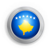 Republic of Kosovo Flag Button — Stock Vector