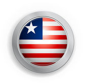 Republic of Liberia Flag Button — Stock Vector