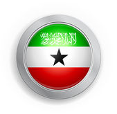 Somaliland Flag Button — Stock Vector