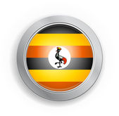 Uganda Flag Button — Stock Vector