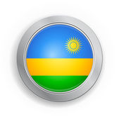 Rwanda Flag Button — Vector de stock