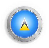 Saint Lucia Flag Button — Stock Vector