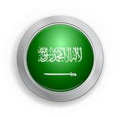 Saudi Arabia Flag Button — Stock Vector