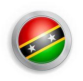St. Kitts & Nevis Flag Button — Stock Vector