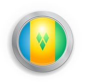 St. Vincent & the Grenadines Flag Button — Stok Vektör