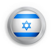 State of Israel Flag Button — Stock Vector