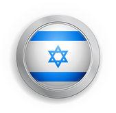 Botón de bandera estado de israel — Vector de stock