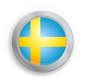 Sweden Flag Button — Stock Vector