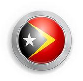 Doğu timor bayrağı düğmesi — Stok Vektör
