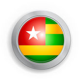 Togo Flag Button — Vettoriale Stock
